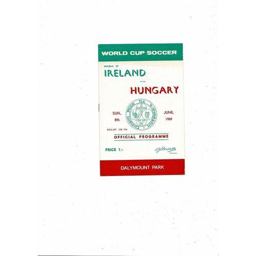 1969 Republic of Ireland v Hungary Football Programme