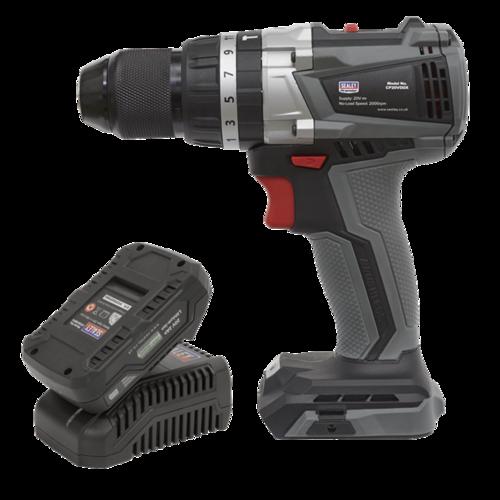 Brushless Hammer Drill/Driver Kit Ø13mm 20V 2Ah - CP20VDDXKIT1 - Sealey