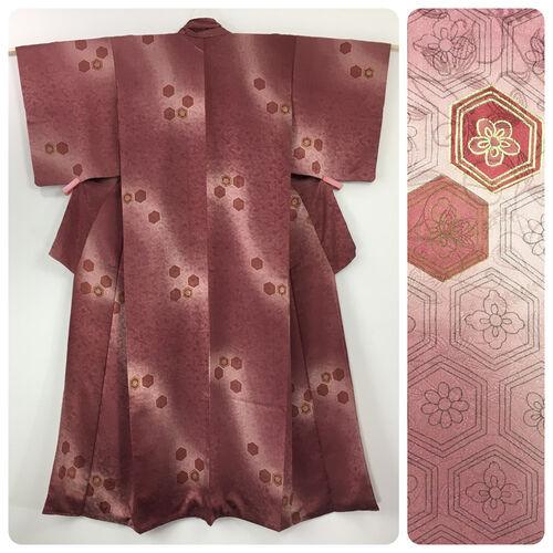 M, long pink kimono for women