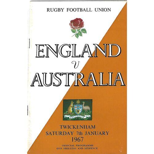 1967 England v Australia (07/01/1967) International Rugby Union Programme