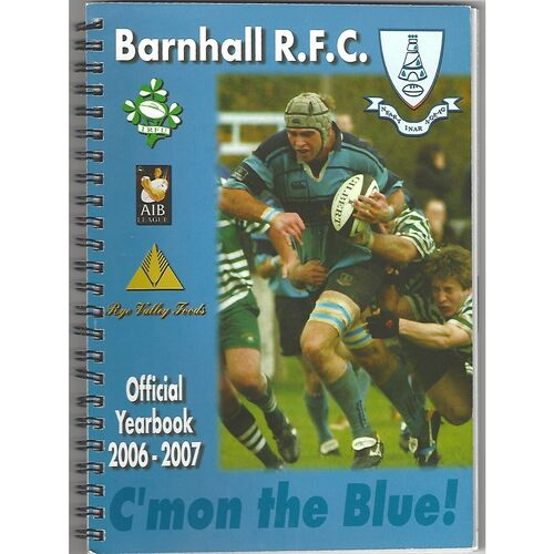 2006/07 Barnhall R.F.C Official Rugby Union Yearbook