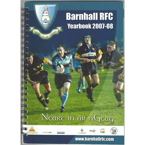 2007/08 Barnhall R.F.C Official Rugby Union Yearbook