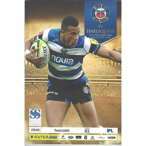 2013/14 Bath v Harlequins (21/12/2013) Rugby Union Programme