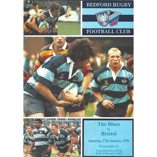 1995/96 Bedford Blues v Bristol Pilkington Cup 5th Round (27/01/1996) Rugby Union Programme