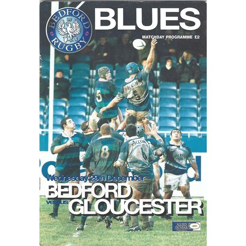 1999/00 Bedford Blues v Gloucester (29/12/1999) Rugby Union Programme
