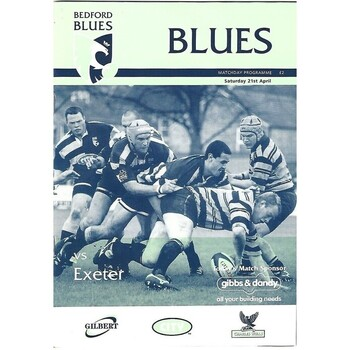 Exeter/Exeter Chiefs Away Rugby Union Programmes