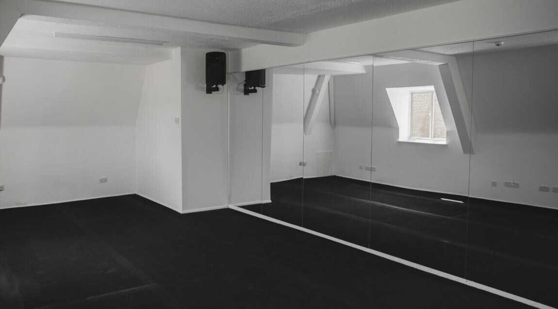 large dance and rehearsal space room for hire