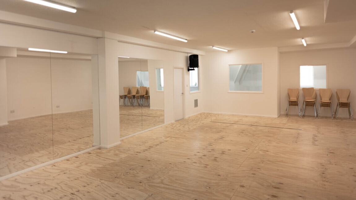 mirrored dance and rehearsal space