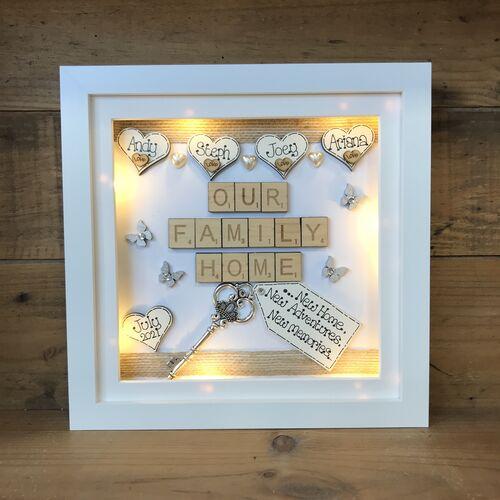 LED Our Family Home frame