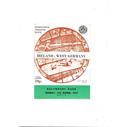 1975 Republic of Ireland v West Germany Football Programme