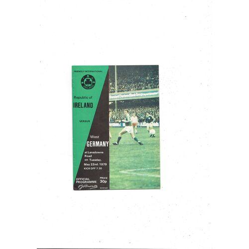 1979 Republic of Ireland v West Germany Football Programme