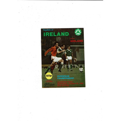 1982 Republic of Ireland v Iceland Football Programme