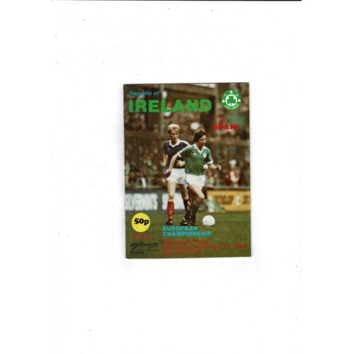 1982 Republic of Ireland v Spain Football Programme