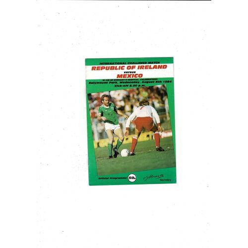 1984 Republic of Ireland v Mexico Football Programme