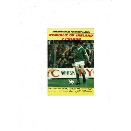 1984 Republic of Ireland v Poland Football Programme