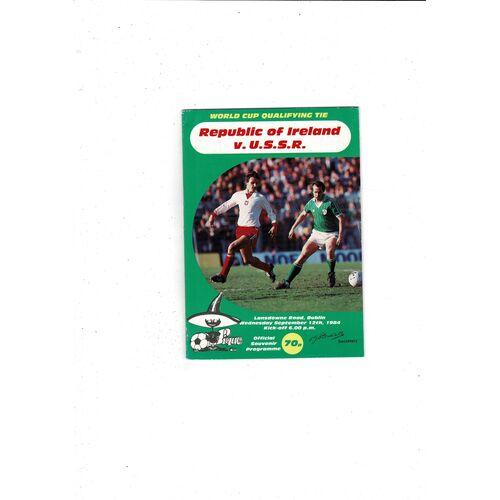 1984 Republic of Ireland v Russia Football Programme