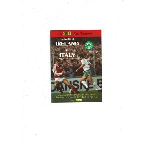 1985 Republic of Ireland v Italy Football Programme