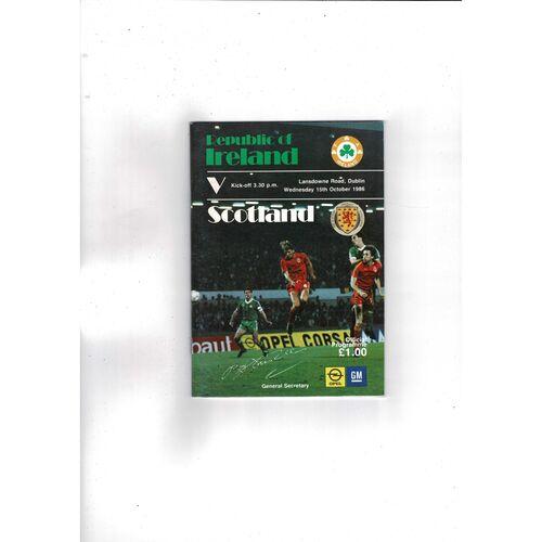 1986 Republic of Ireland v Scotland Football Programme