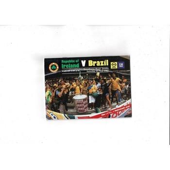 1987 Republic of Ireland v Brazil Football Programme
