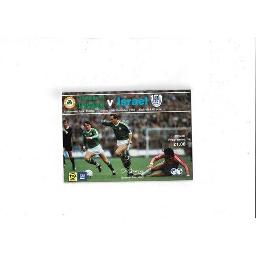 1987 Republic of Ireland v Israel Football Programme
