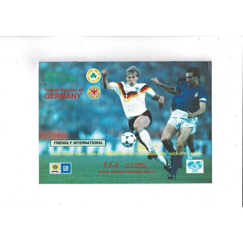 1989 Republic of Ireland v Germany Football Programme