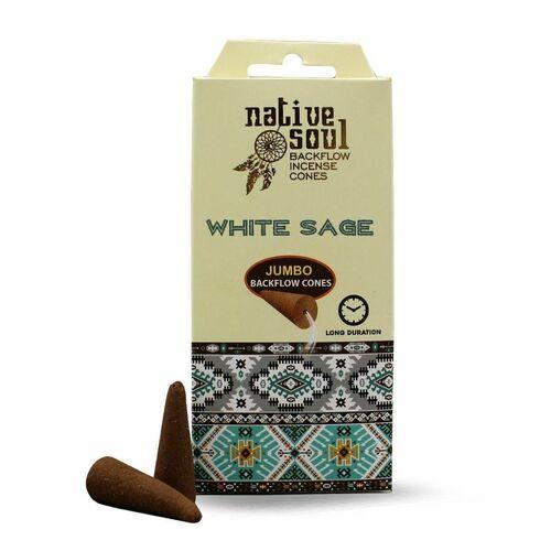 Native Soul White Sage Jumbo Backflow Incense Cones
