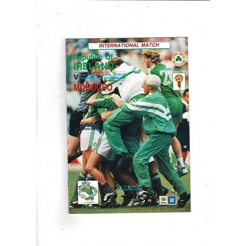 1990 Republic of Ireland v Morocco Football Programme
