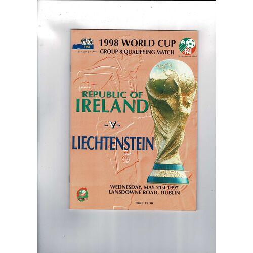 1997 Republic of Ireland v Liechtenstein Football Programme.