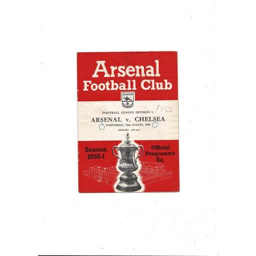 1950/51 Arsenal v Chelsea Football Programme