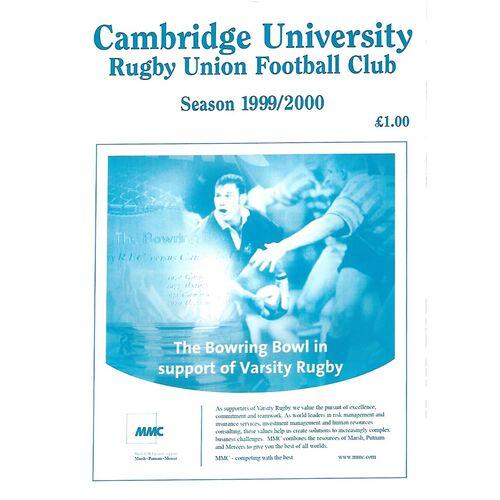 1999/00 Cambridge University v Durham University (15/01/2000) Rugby Union Programme