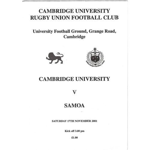 Samoa Rugby Union Programmes