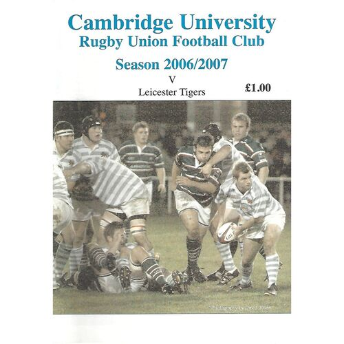 2006/07 Cambridge University v Leicester Tigers (13/11/2006) Rugby Union Programme