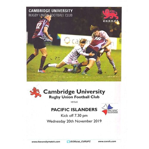 Pacific Islanders Rugby Union Programmes