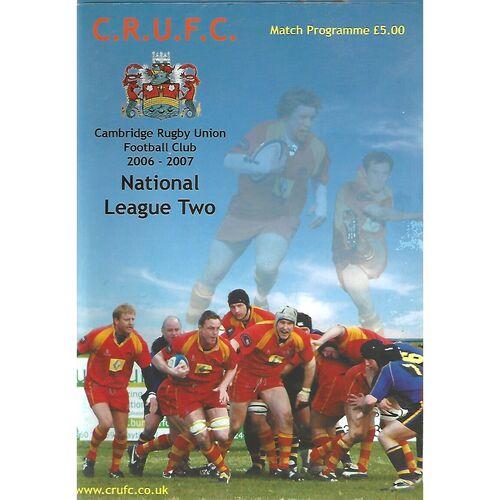 2006/07 Cambridge v Bradford & Bingley (28/10/2006) Rugby Union Programme