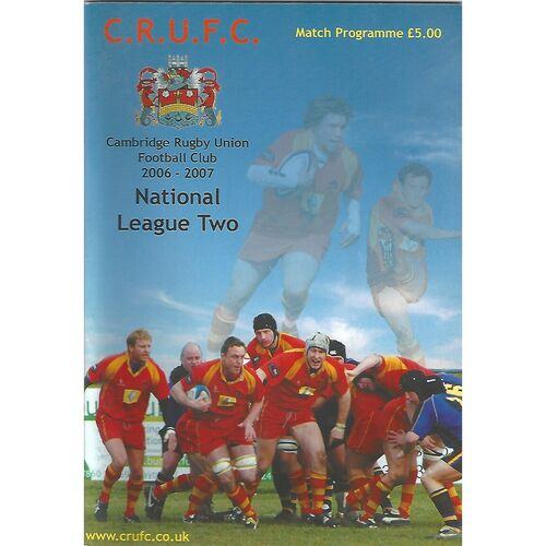 2006/07 Cambridge v Redruth (27/01/2007) Rugby Union Programme