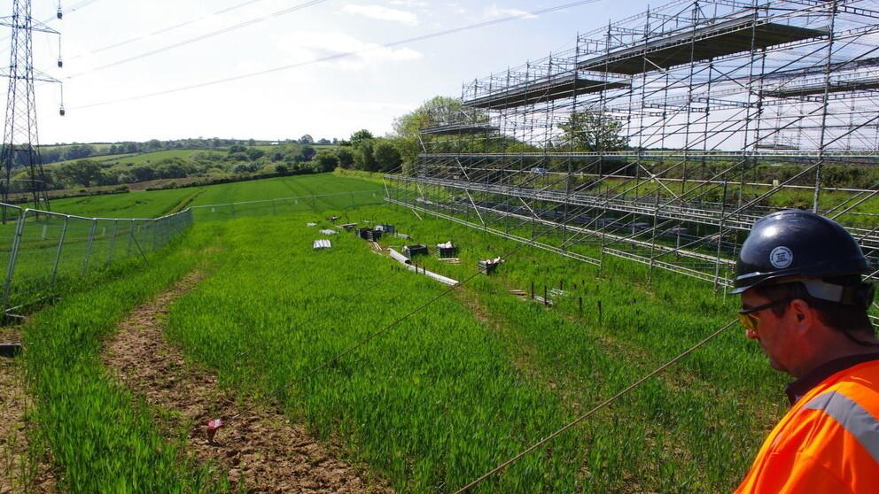 Overhead Power-line Scaffolding