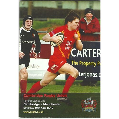 2009/10 Cambridge v Manchester (10/04/2010) Rugby Union Programme