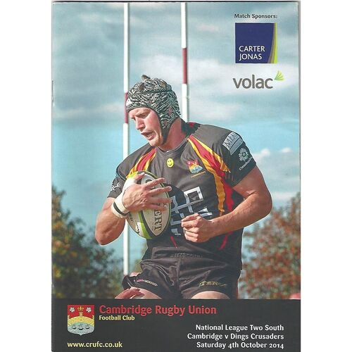 2014/15 Cambridge v Ding Crusaders (04/10/2014) Rugby Union Programme