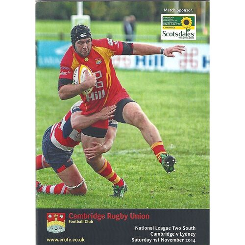 Lydney Away Rugby Union Programmes