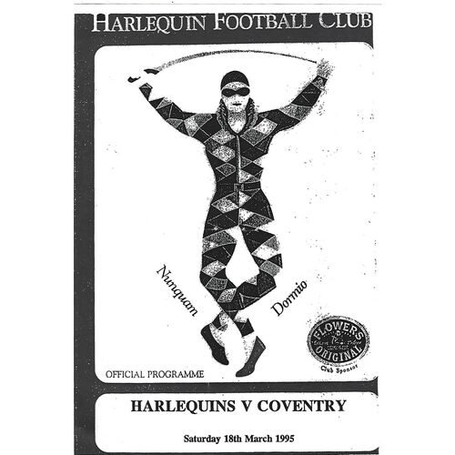 1994/95 Harlequins v Coventry (18/03/1995) Rugby Union Programme