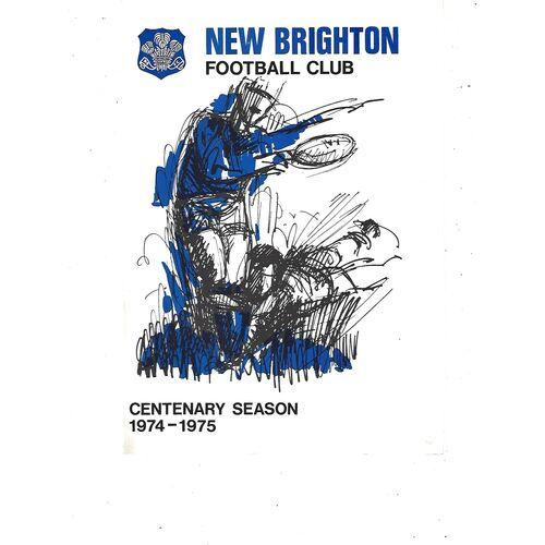 1974/75 New Brighton v Cardiff Rugby Union Programme