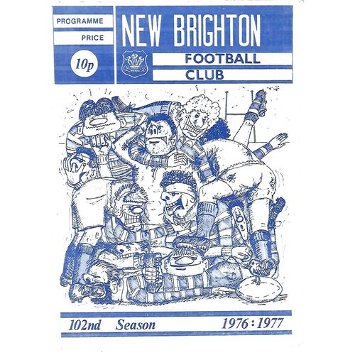 1976/77 New Brighton v Broughton Park (20/11/1976) Rugby Union Programme