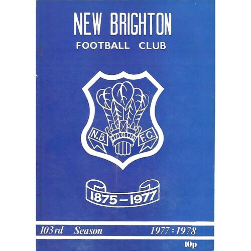 1977/78 New Brighton v Wilmslow (14/01/1978) Rugby Union Programme