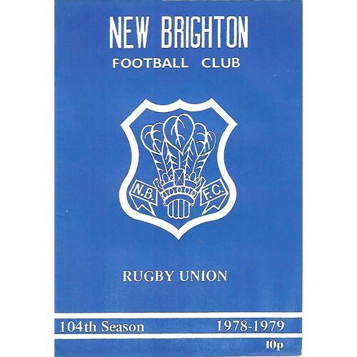 1978/79 New Brighton v Harrogate (10/03/1979) Rugby Union Programme