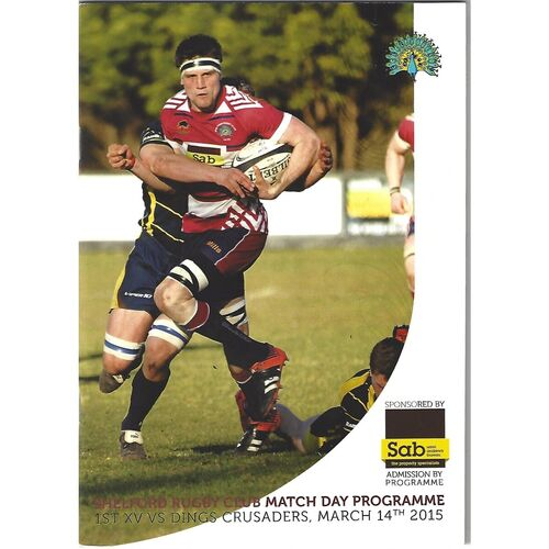 2014/15 Shelford v Dings Crusaders (14/03/2015) Rugby Union Programme