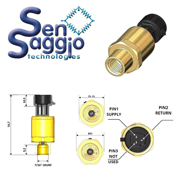 Introducing the NEW Sensaggio SM Series Absolute Pressure Sensor measuring 0-70 bar with 4…20mA output