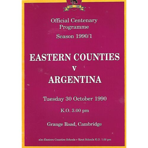 Argentina Rugby Union Programmes
