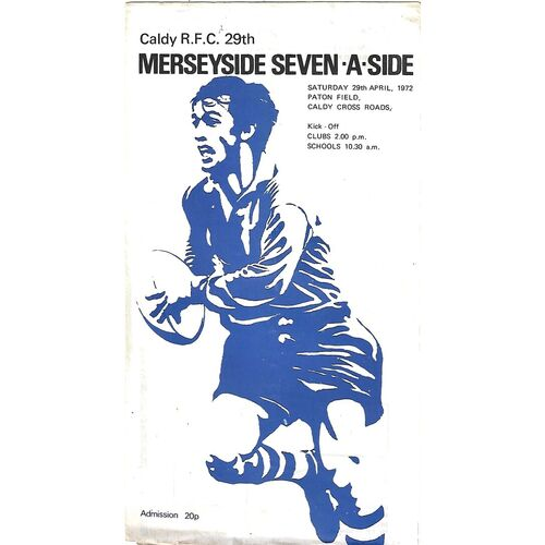 Merseyside Seven-A-Side Rugby Union Programmes