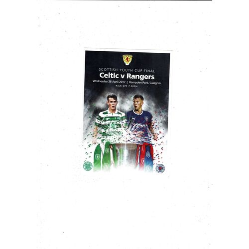Scottish Youth Cup Final Football Programmes