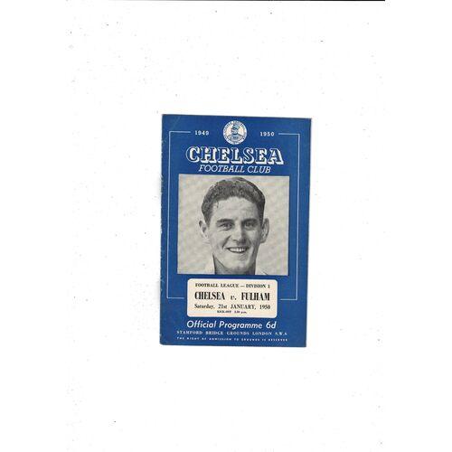 1949/50 Chelsea v Fulham Football Programme